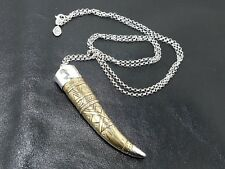 "Silver& Brass Necklace Excellent New Silpada N3238 ""Adventure Seeker"" Sterling"
