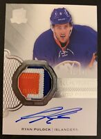 2016-2017 UD THE CUP Ryan Pulock AUTO RC ROOKIE CARD Patch Jersey 42/249 Psa 10