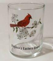 """Virginia's Eastern Shore Cardinal 2.75"""" Collectible Shot Glass"""