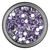 Light Purple Resin Rhinestone Gem - 2mm 3mm 4mm 5mm 6mm - Flat Back - Nail Art