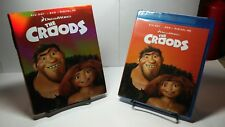 The Croods(Blu-ray Disc+DVD+Digital HD,2016,2-Disc Set)w/Slipcover-Free Shipping