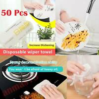 50pcs/Bag Disposable Washing Dish Towel Kitchen Clean Non-stick Oil Wiping Rags
