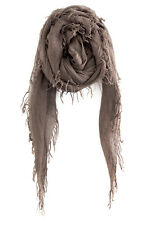 CHAN LUU NEW Deep Taupe Brown Tan CASHMERE & SILK SOFT SCARF Shawl Wrap