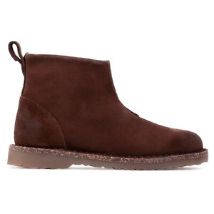 Birkenstock Unisex Boots Melrose Casual Slip-On Zip-Up Ankle Suede Leather
