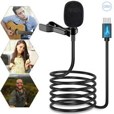 Type C Clip On Microphone Lavalier Lapel Omnidirectional Mic For Live Streaming