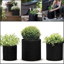3pcs Large Rattan Planter Plastic Garden Patio Flower Plant Pot Yard Outdoor