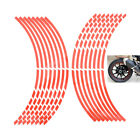 16 Pcs/Set Red Car Wheel Stickers Reflective Rim Stripe Tape Motorcycle FT