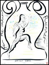 Chris Rotili for the unknowm RUNNER poster stampa d'arte nel quadro in alluminio 80x60cm