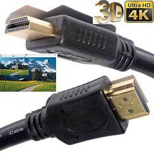 GOLD 1080P LONG HDMI CABLE LEAD SMART HD TV 3D METRE 1m 2m 5m 10m 15m 1.4V PS3