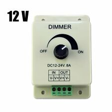 DC 12V 8A Light Dimmer Brightness Control For Single Color LED Strip TL