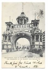 Canadian Arch Whitehall London for Coronation Edward VII 1902 Postcard 660S
