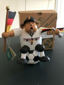 KWO Räuchermann Kantenhocker Fußballfan mit Spardose mit Schlüssel unbenutzt