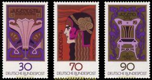 EBS Germany 1977 - Art Nouveau - Jugendstil - Michel 923-925 MNH**