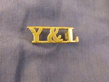 Original: York and Lancaster Regiment Shoulder Title Badge - Y&L