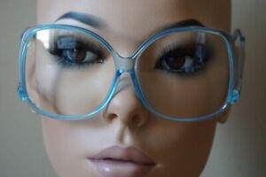 Oversized Vintage Glossy Jackie O Clear Lens Eye Sun GLASSES UPSIDE DOWN Frame