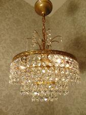 antik   Kronleuchter Lüster   Bronze Gold Kristall Barock ca.1930
