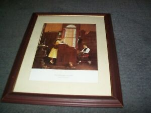 Norman Rockwell-The Marriage License Framed Print.Excellent Condition