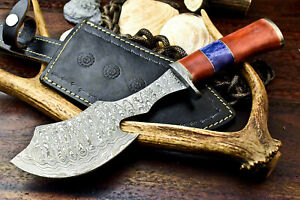 Cutlery Salvation Custom Handmade Damascus Hunting Bowie Knife   CAMEL BONE