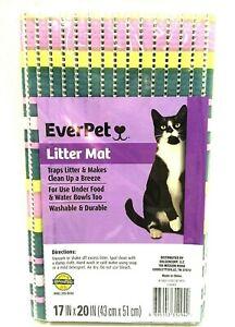 EverPet Litter Mat Cat Pet Supplies Easy Clean Up Green Purple 17 x 20 inches