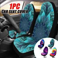 Galaxy Printed Car Front Seat Cover Cushion Protector Sedan SUV Van Universal #