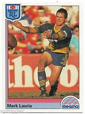 1992 NSW Rugby League REGINA Base Card (51) Mark LAURIE Pararmatta Eels