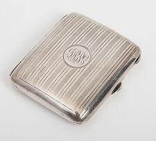 Antique Art Deco Solid Silver Cigarette Case, Birmingham 1919