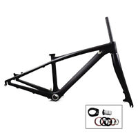 "26er Carbon Mtb Bike Frame 14"" Mountain Frameset/Fork BB92 135*9mm Thru Axle"
