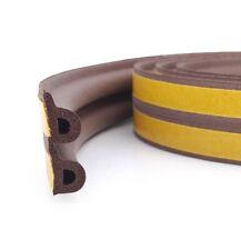 6m Brown Self Adhesive Door / Window Seal Strip - P Profile