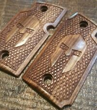 Caribbean Rosewood Grips with Spartan Helmet  - Will fit Sig Sauer P938