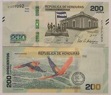 HONDURAS - P. NEW - 200 LEMPIRAS - 2019 - 2021 - COMMEMORATIVE - GEM UNC - BIRDS