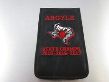 Sunfish Golf Leather Scorecard & Yardage Book Holder Argyle State Champs Merrick