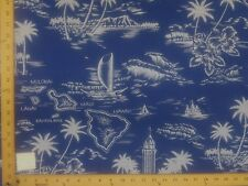 31 PRINTS BLUES TURQUOISE HAWAIIAN FLORAL PRINT POLY COTTON FABRIC $4.99/YD