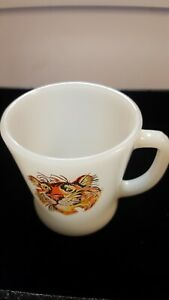 "Fire King Vtg. Promotional Esso Exxon Tony The Tiger Coffee cup/ Mug 3 1/2"" T"