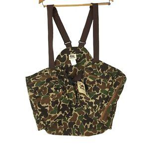Vintage Duxbak Camouflage Adjustable Strap Utility Hunting Sport Vest Brown