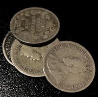 1910-1936 Canada 10 Cents George V Silver Dime Rare Coin