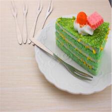 Stainless Steel Fruit Fork Sticks Food Cake Dessert Picks Party Kitchen Tool 6A