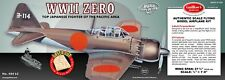 Guillow's Model Airplane Kit WWII Mitsubishi A6M Zero, Pacific Theater  GUI-404
