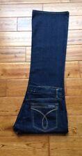 GORGEOUS! Calvin Klein Stretch Flare Womens Dark Wash Jeans 12 W36 L33 PERFECT!