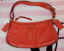 COACH Park Leather E/W Duffle Satchel Purse - Persimmon - NWT