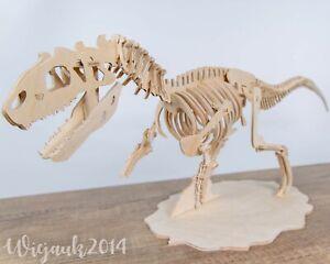 Puzzle Dinosaur Allosaurus Anatomically Correct Model Wooden 3d Toys Adults Kids