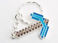 Minecraft Diamond Pickaxe Keyring Boys Girls Axe Charm   Keychain AUS