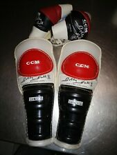 Vtg Bobby Hull Ccm Hockey Elbows And Players Leg Pads Good Condition