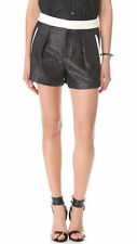 helmut Lang Shy shorts black/old silver w/patent leather trim NWT 0 $345.00