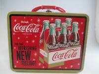 Coca-Cola Tin Lunch Box Carry All Retro For That Refreshing New Feeling
