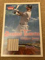 2005 FLEER CHIPPER JONES BAT CARD DIAMOND TRIBUTES ATLANTA BRAVES