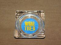 VINTAGE TOBACCO WGAL TV8 GLASS  CIGARETTE ASHTRAY