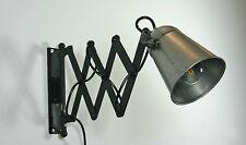 Wandlampe Industrie Design Metall Fabriklampe vintage Loft Scherenarm Leselampe