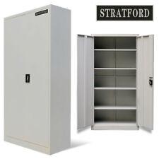 Premium Heavy Duty Industrial Stratford Metal Cabinet 2 Door Cupboard 195cm Tall