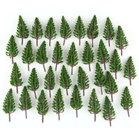 50pcs HO or OO Scale Model Pine Trees 78mm for Building Street Scene Layout