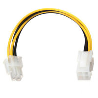 ATX 4-Pin Male to Female Power Supply Extension Cable Cord Connector Adapter SS